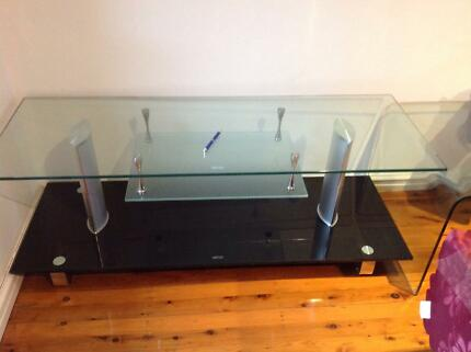 Glass TV unit - Great design! Mount Lewis Bankstown Area Preview