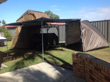 C&ing (tradie) Trailer with New Rooftop Tent Annexe u0026 Awning & rooftop tent | Camper Trailers | Gumtree Australia Free Local ...