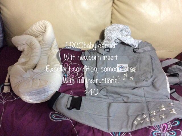 Ergobaby Carrier With Infant Insert Baby Carriers Gumtree
