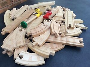 THOMAS THE TANK ENGINE WOODEN TRAIN TRACK PIECES IN V G C Launceston Launceston Area Preview