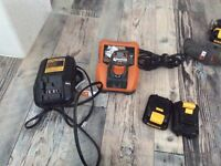 Multiple power tools batteries and chargers