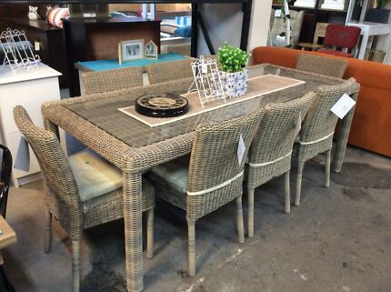 Maui 9 Piece Outdoor Dining Setting Brand New