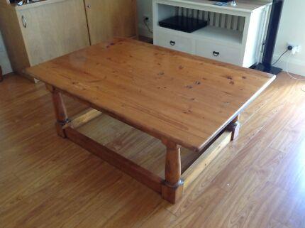 Solid cedar coffee table