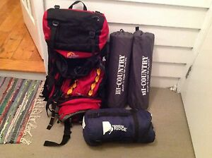 Lowe alpine rucksack, 2 inflatable mattresses and a sleeping bag Caulfield South Glen Eira Area Preview