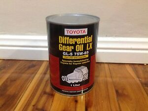Toyota differential  Gear  oil LX 75 W -85   GL-5 one liter tin Blacktown Blacktown Area Preview