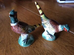 Vintage Pheasant Salt and Pepper shakers