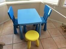 IKEA Mammut table, 2 chairs and one stool Caringbah Sutherland Area Preview