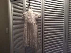 Gorgeous white lined infant dress