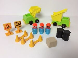 Fisher Price vintage Little People Lift and Load Road Builders