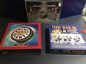 Lot of three hockey board games