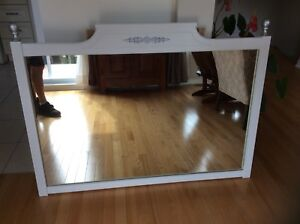 Gorgeous wooden mirror refurbished.Price dropped ( firm)