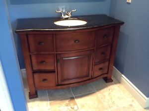 Luxury bathroom cabinet with sink and mirror