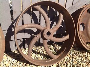 Industrial Wheels antique