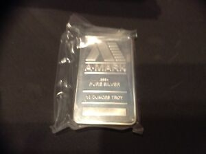 10 A Mark ounce pure Silver bars .999+ Only 6 left