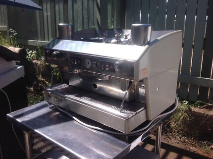 Wega 2 group commercial coffee machine and Grinder