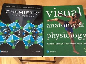 First year Science text books and lab coat