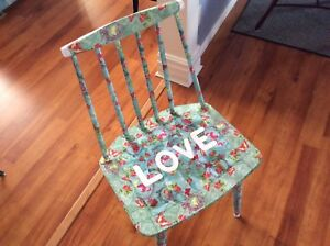 Decoupaged Accent Chair