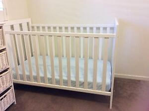 Baby cot, Tasman Eco change table and bonus bookshelf Oatley Hurstville Area Preview