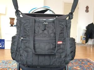 Skip hop diaper bag touched with stroller