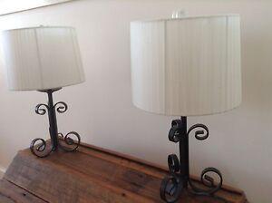 Wrought Iron Bedside Lamp x 2 Thornbury Darebin Area Preview