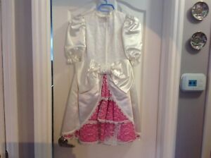 Little girls Princess Dress comes with    Terra and gloves