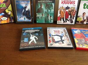 A variety of DVDs