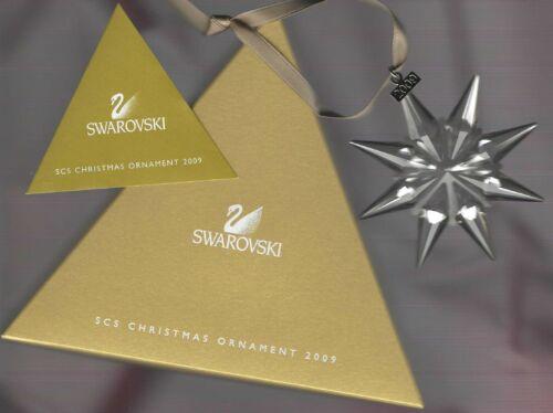 2009 Swarovski SCS GOLD Crystal Ornament, Large Annual Edition, MINT