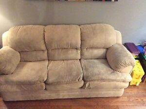2 Cream coloured microfibre couches
