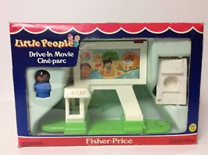Fisher Price vintage Little People Drive-In Movie set in the box