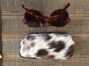 1970's  Sunglasses with Llama Hide case
