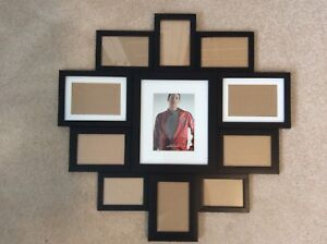 11 picture black frame