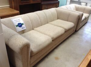 Cream Couch and Love Seat Set