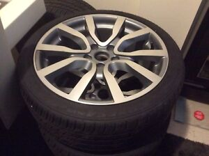 """18""""GTI rims with tires 5x112mm"""