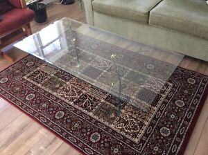 Glass coffee table and two end tables 350.00$