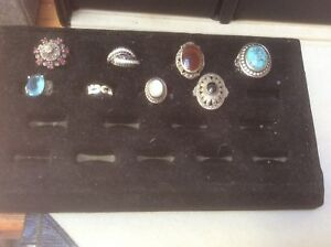 Rings - most size 8 and 9