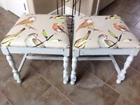 Reupholstered stools SOLD