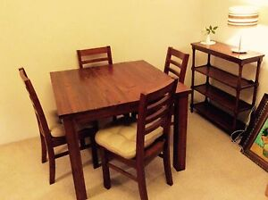 Square table plus 4 chairs for sale. Croydon Burwood Area Preview