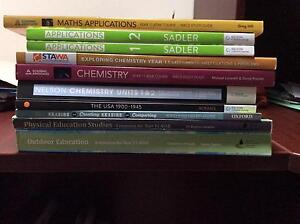 Assorted year 11 ATAR text maths science and English Brookwater Ipswich City Preview
