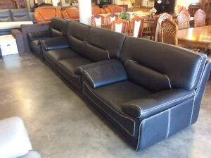 Leather Look Lounge Suite Wangara Wanneroo Area Preview