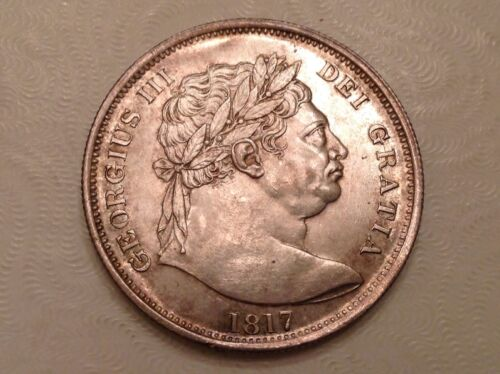 - 1817 Great Britain One Half 1/2 Crown George III Choice uncirculated