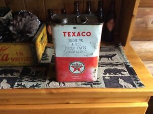Vintage antique texaco oil can