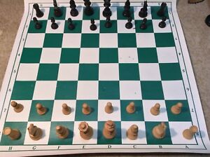 "Chess Pieces Set Wood 4"" Inch King"