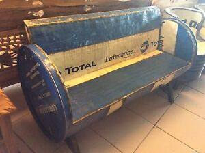 Brand New Hand Made Recycled United Oil Drum Couch Invermay Launceston Area Preview
