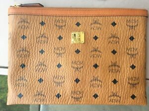 Authentic MCM heritage zip pouch