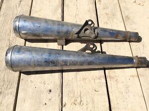1978 1Honda CB250 CB400 T Left Right Mufflers Exhaust