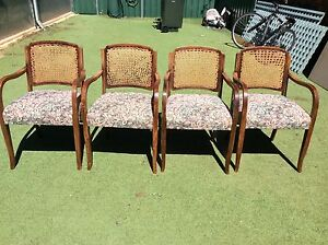 Four carver dining chairs, shabby chic Panorama Mitcham Area Preview
