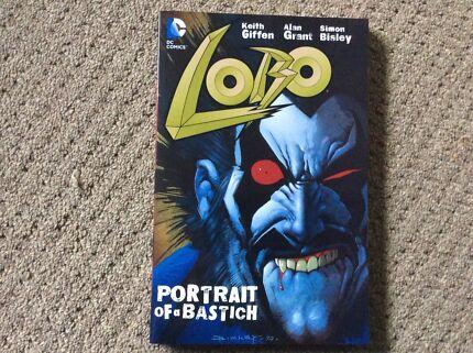 Lobo portrait of a Bastich graphic novel new out of print DC comics