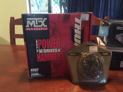 MTX  x502- Channel amplifier 540w max and wiring kit