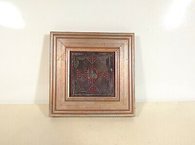 Embroidered Vintage Artwork with Metal Wires Shabby Chic Frame Hanging Wire