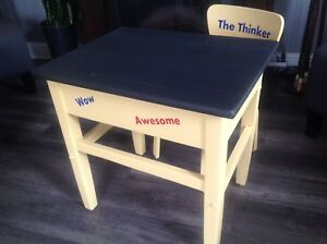 Childs desk an chair